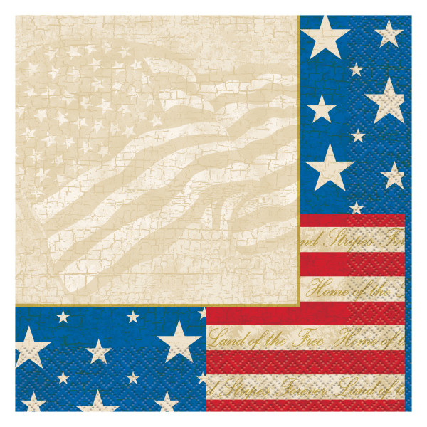 USA Patriotic Party Lunch Napkins, 16ct