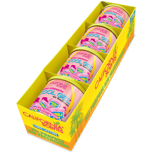 California Scents Cool Gel 4.5 oz, 4-Unit Pack, Balboa Bubblegum (CG4-449TR)