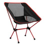 Camping Chair Foldable Lounge Chair with Backrest Portable Lightweight Chair with Storage Bag for Outdoor Hiking Fishing Picnic Sports