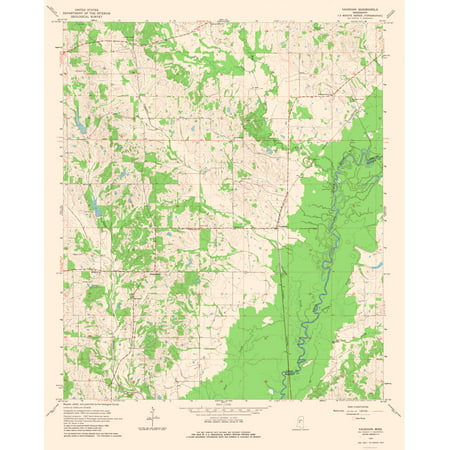 Topographic Map Mississippi.Topographic Map Vaughan Mississippi Quad Usgs 1964 23 X 28 65
