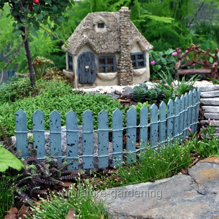 Miniature Colorful Picket Fence, Color Options for Miniature Garden, Fairy Garden (Fairy Garden Supplies Cheap)