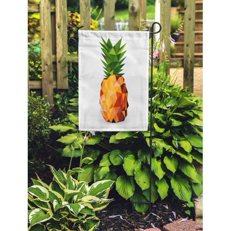 JSDART Colorful Graphic of Pineapple Rendered in Geometric Gem Food Shadow Garden Flag Decorative Flag House Banner 28x40 inch - image 2 de 2