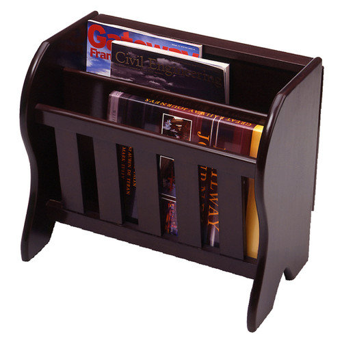 Magazine Rack with Side Flip Top