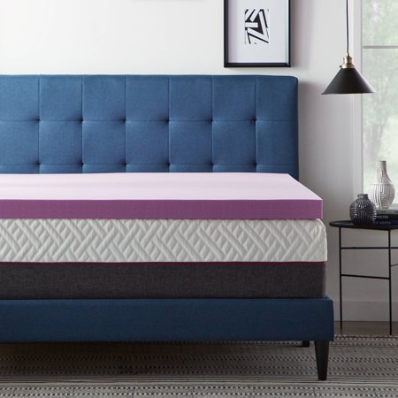 Lucid® Revive™ Lavender and Aloe Infused Memory Foam Topper 2, 3, 4 Inch ()