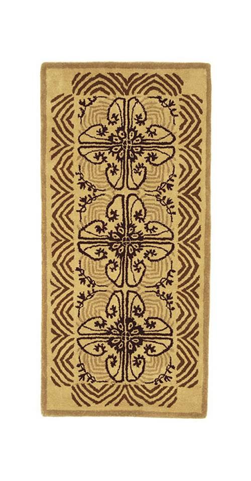 Hearth Rug w Art Deco Pattern by Minuteman International
