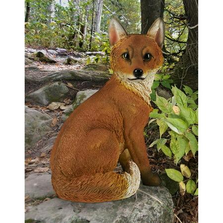 Fox Garden Statue (Design Toscano Woodie, the Woodland Fox Garden Statue )