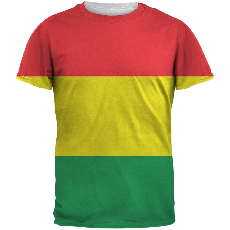 Rasta All Over Adult T-Shirt