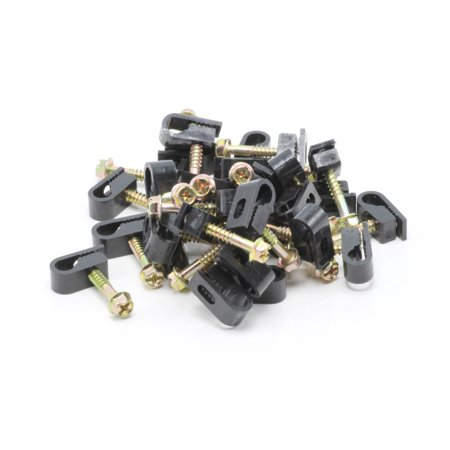 Single Coaxial Cable Clips, Cat6, Electrical Wire Cable Clip, 1/4 in ...