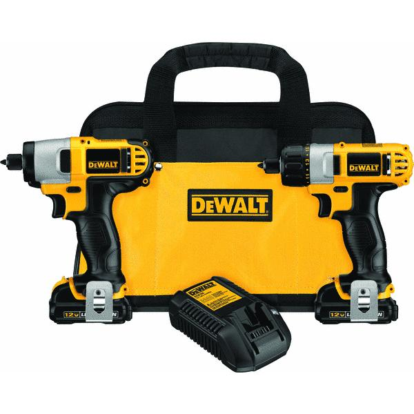 DeWalt 12V MAX Lithium-Ion Screwdriver and Impact Cordless Tool Combo Kit
