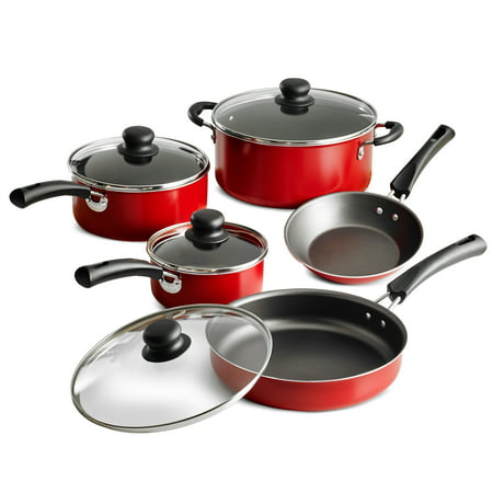 Tramontina Non-Stick Red Cookware Set, 9 Piece