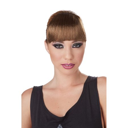Adult Brunette Clip-on Bangs by California Costumes 70781, One - Good Halloween Ideas For Brunettes