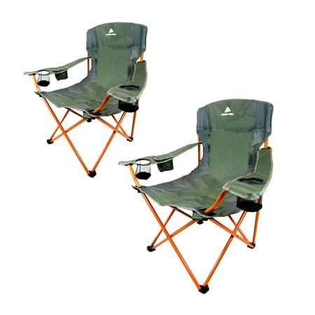 Ozark Trail Tailgate Quad Folding Camp Chair Set 2 Pack