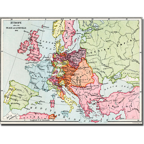 Trademark Art 'Europe After the Peace of Luneville, 1801' Canvas Art