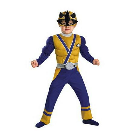 Disguise 38253S Gold Ranger Samurai Muscle 1-2 - A Power Rangers Samurai Halloween