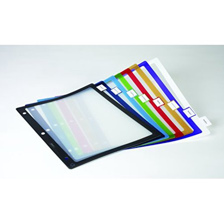 Staples Better Print & Apply Label Plastic Div. 8-Tab Asst Colors Set 953697 Cut Asst Top Tab
