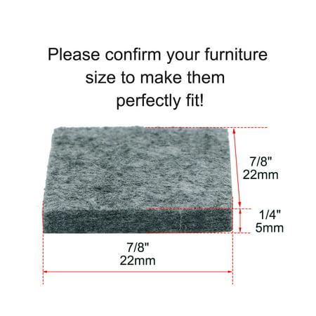 "Felt Furniture Pad Square 7/8"" Self Adhesive Anti-scratch Floor Protector 30pcs - image 4 of 7"