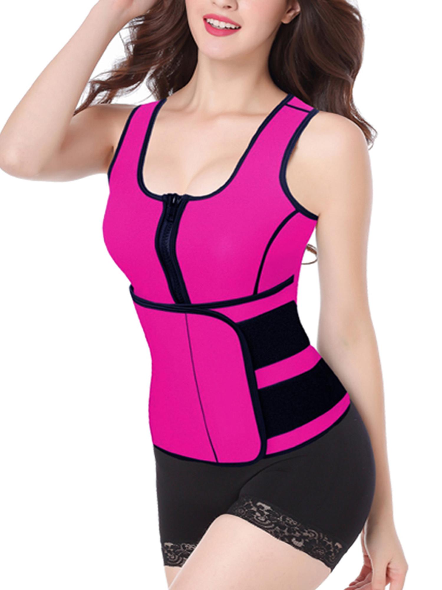Neoprene Belt Tummy Control Body Shapers Slimming Sweat Vest Firm Control Adjustable Waist Trimmer Belt Vest Figure Slimmer