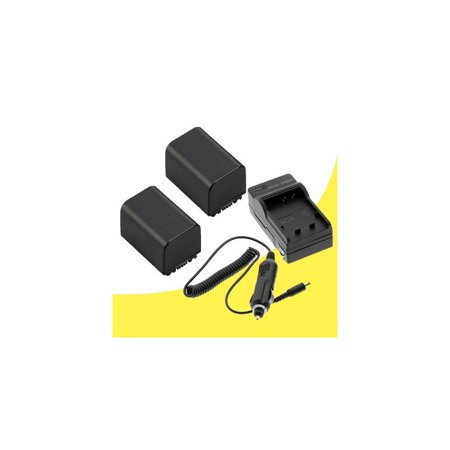 Lithium Ion Extended Life - two vw-vbg260 extended life lithium ion replacement batteries and charger for panasonic aghmc40, aghmc45, aghmc70, aghmc80 professional digital camcorders davismax accessory kit