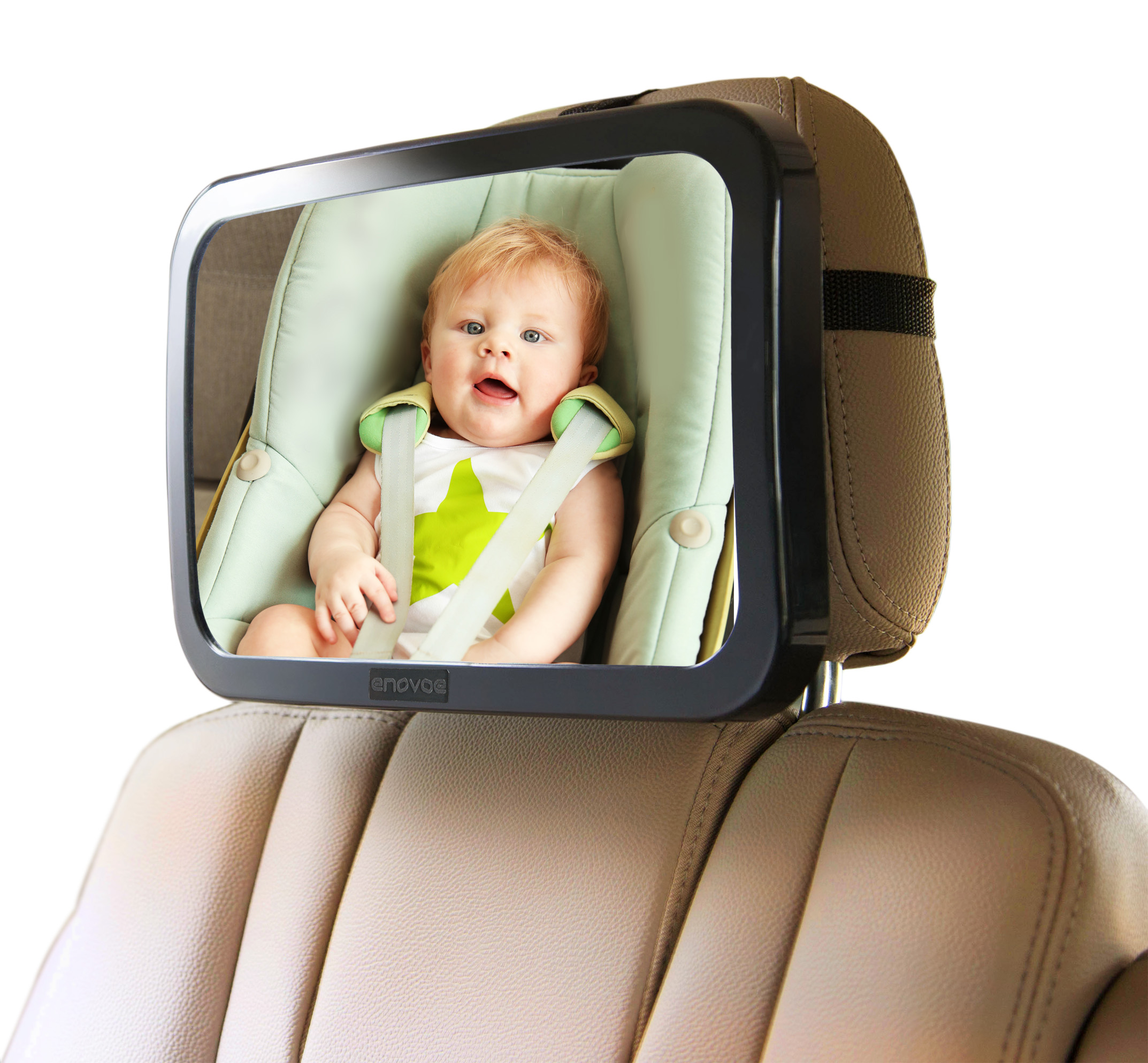 with Wide Crystal Clear View Best Newborn Safety with Secure Headrest Double-Strap View Infant in Rear Facing Car Seat Baby car Mirror for Back seat Shatterproof.