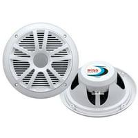 """Boss Audio MR6W Speakers, 6.5"""" 2-Cone, 180 Watt, White"""