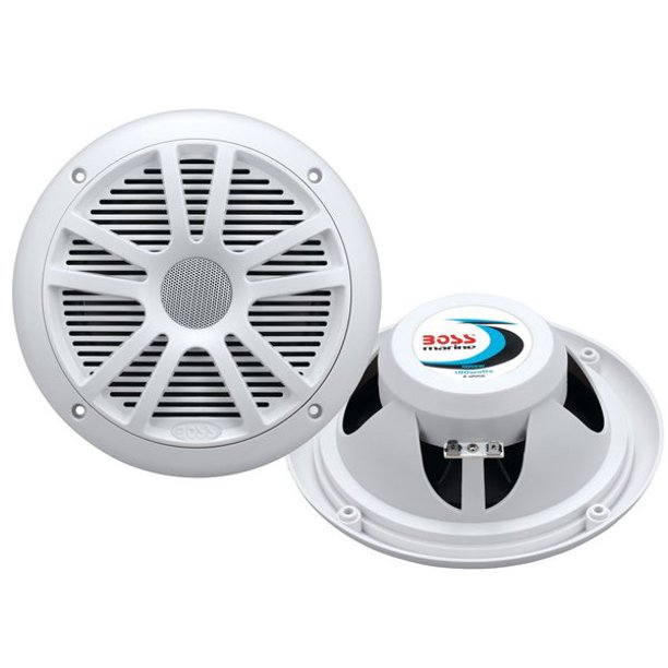 "Boss Audio MR6W Speakers, 6.5"" 2-Cone, 180 Watt, White"