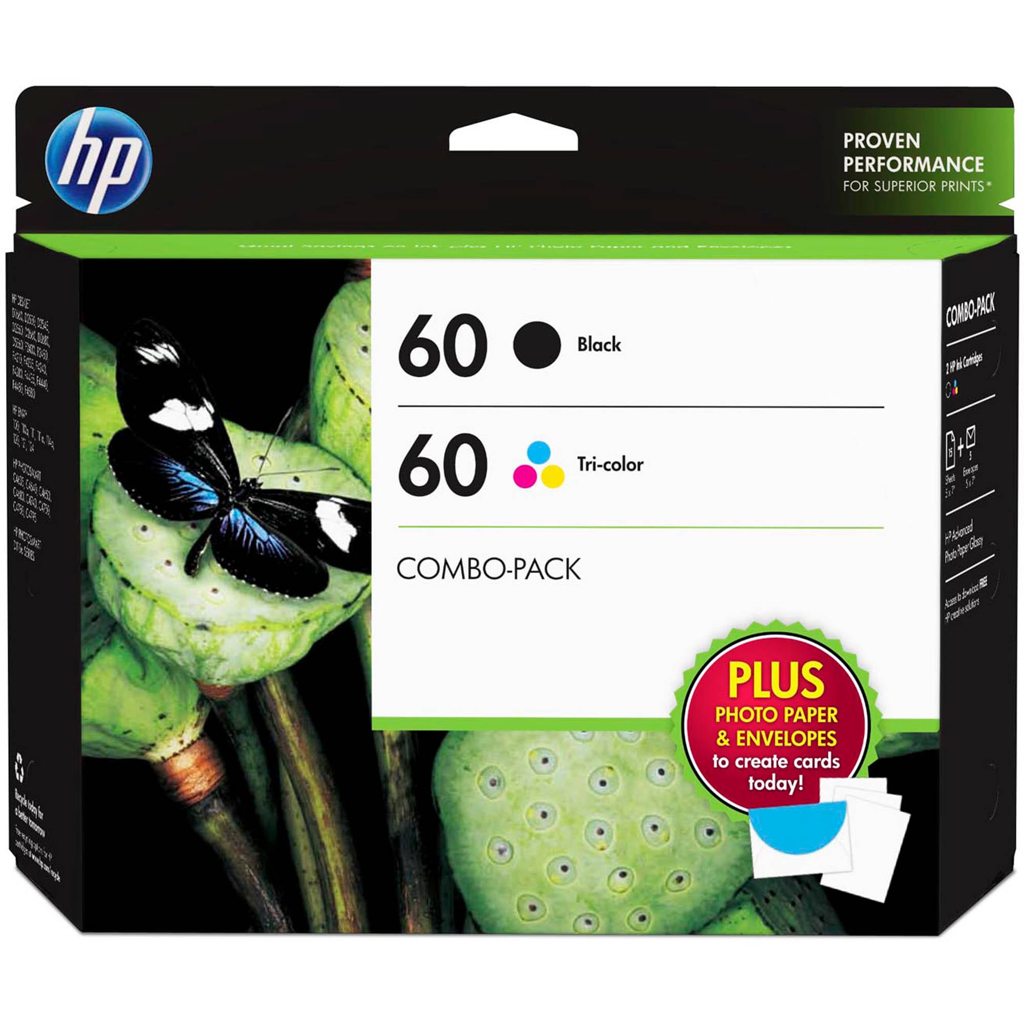 HP 60XL, (CC641WN) High Yield Black Original Ink Cartridge ...