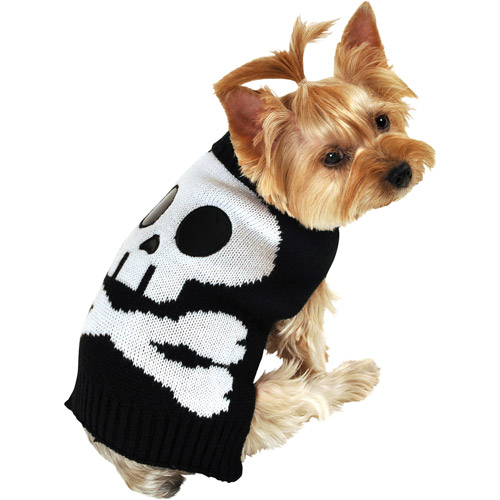 SimplyDog Giant Skull Face Dog Sweater, Multiple Sizes Available