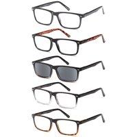 Gamma Ray Optics Spring Hinge 1.25x Reading Glasses, 5 Pair