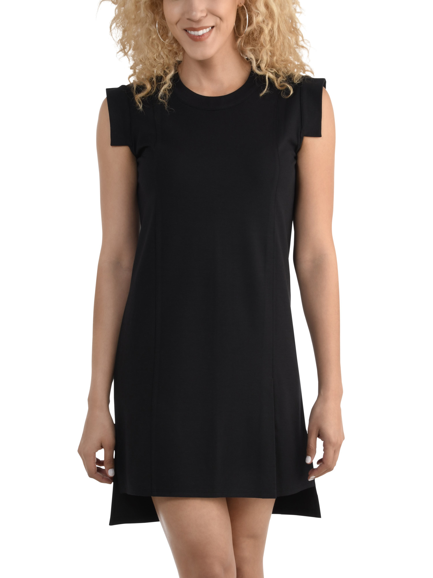 Women's Pleated Ponte Dress, Available in Sizes up to 2XL