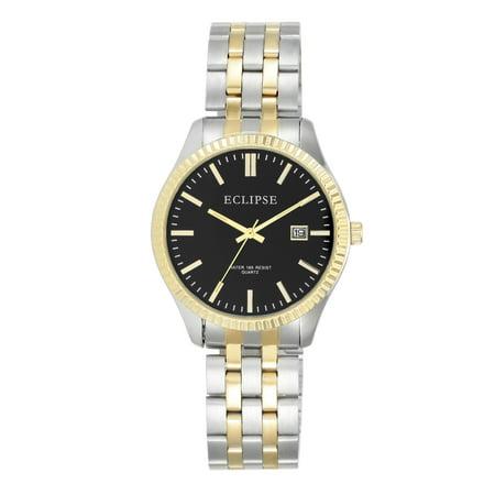 - Men's Round Dress Watch, Black
