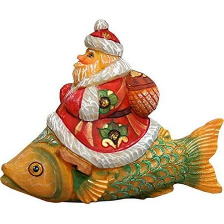 GDeBrekht 631262 Santa On Fish Figurine Ornament