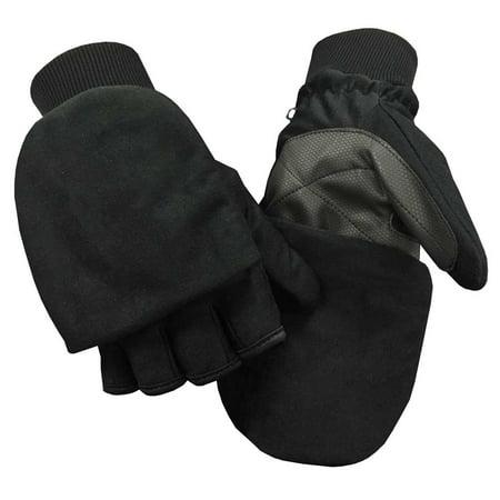 Northstar Unisex Waterproof Thinsulate Flip Top Convertible Gloves, Black. 503BK (Northstar Water Filter)