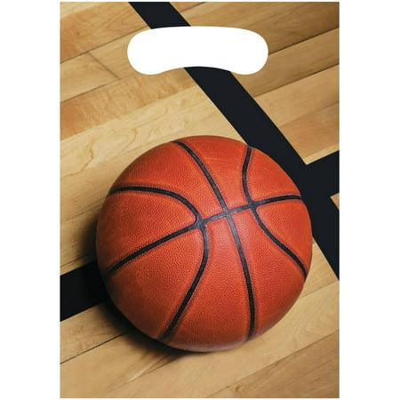 Sports Fanatic Basketball Loot Bags, 8pk