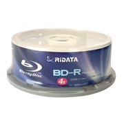 25 Pack Ridata 4X BD-R BDR 25GB Single Layer Blue Blu-ray Logo Recordable Blank Media Disc with Spindle Packing