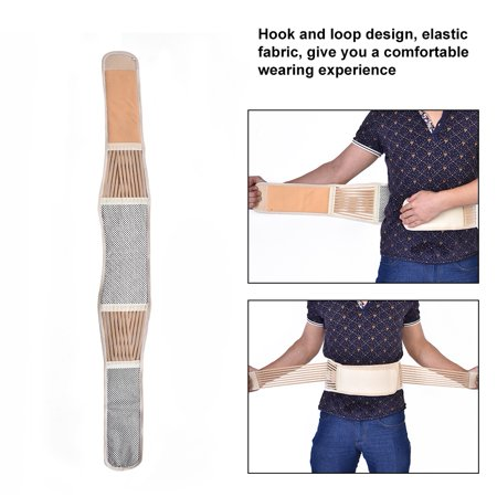 Peahefy Self-heating Magnetic Therapy Waist Belt Back Brace Lumber Support Breathable Unisex,Waist Support, Self-Heating Waist Belt - image 4 of 8