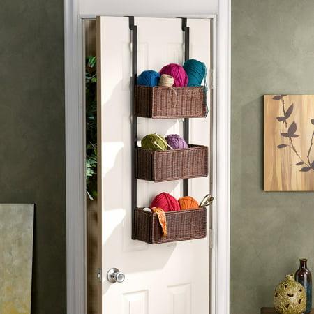 Over The Door 3 Tier Basket Storage
