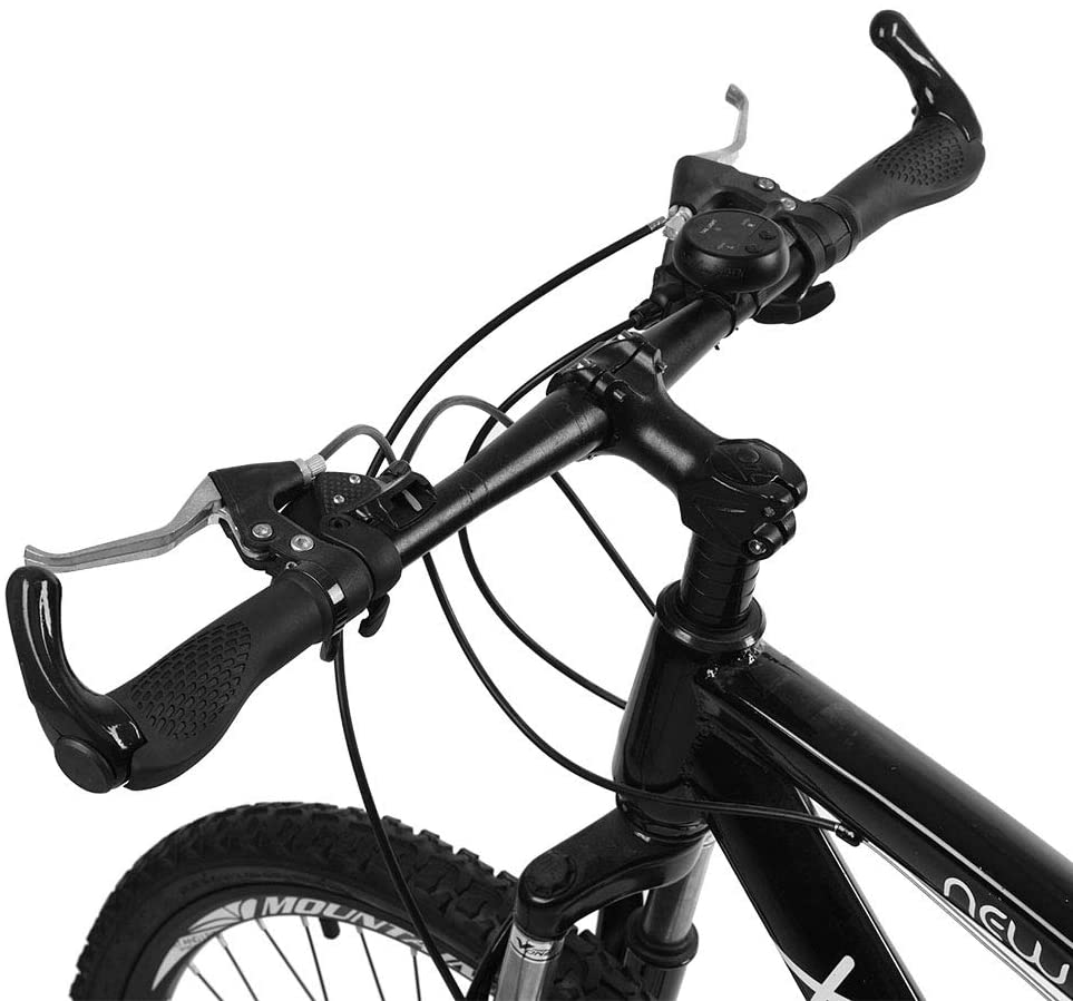 Ergonomic Bike Grips Rubber Black MTB Mountain Bicycle Handlebar Cycling Lock-On