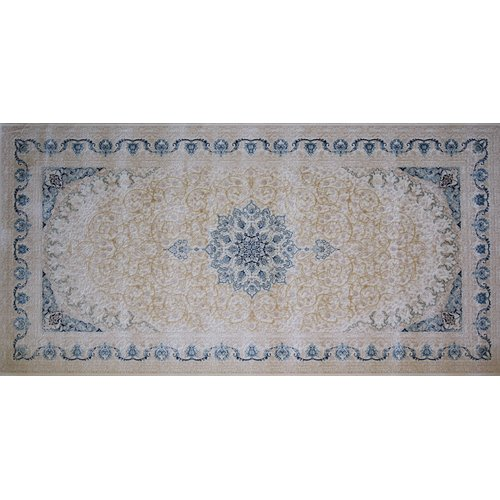 Astoria Grand Mcnatt Hand Look Persian Wool Brown/Blue Area Rug
