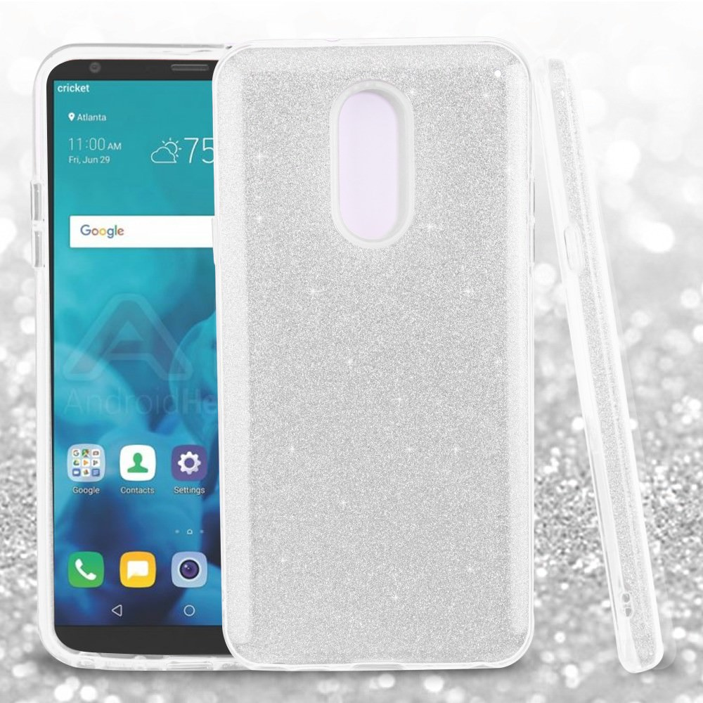 online retailer 89b78 1b408 MUNDAZE Silver Glitter Dazzle Case For LG Stylo 4 Phone – BrickSeek