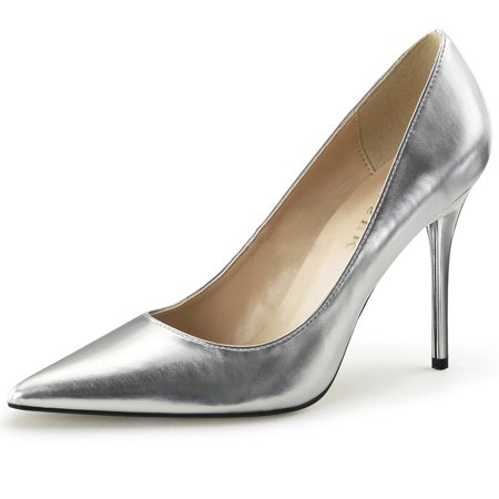 Womens Pointed Toe Shoes High Heel Pumps Classic Stilettos 4 Inch Heels