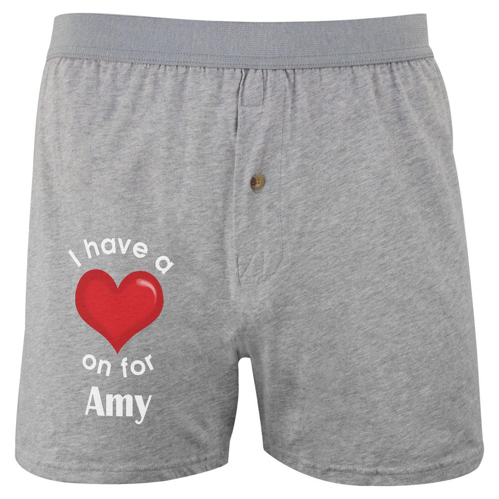 I Have a Heart On for Amy Soft Knit Boxer