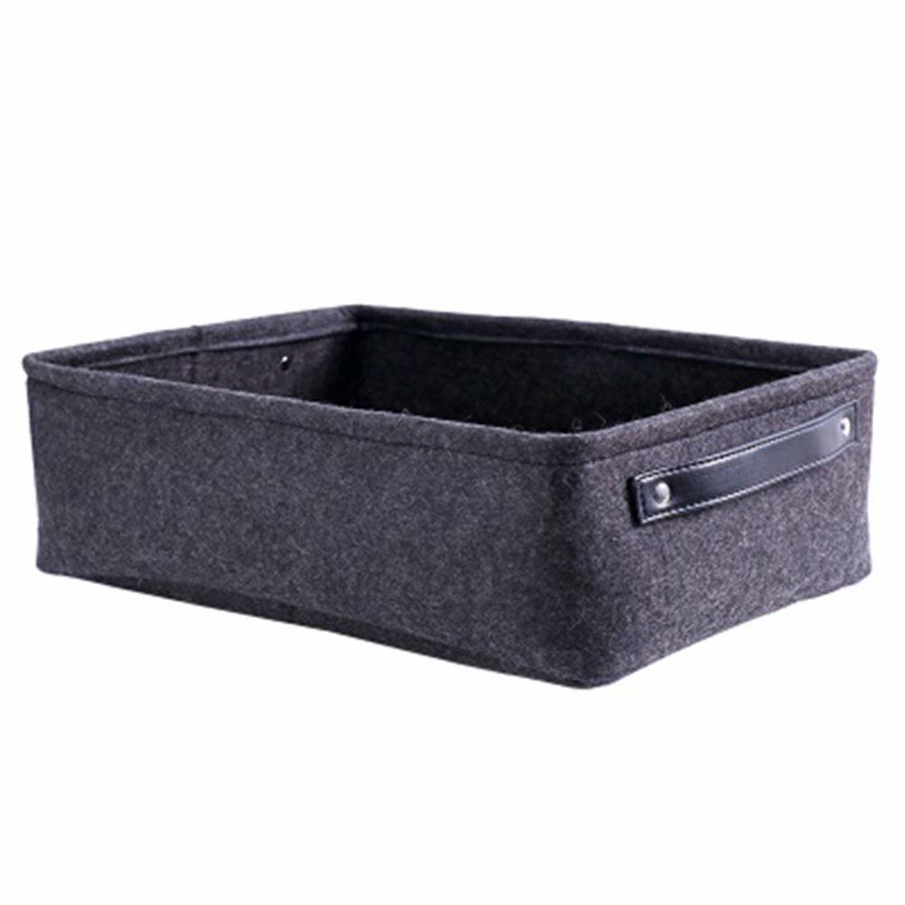 Felt Storage Basket Living Room Coffee Table Storage Box Cloth Felt Storage Hamper