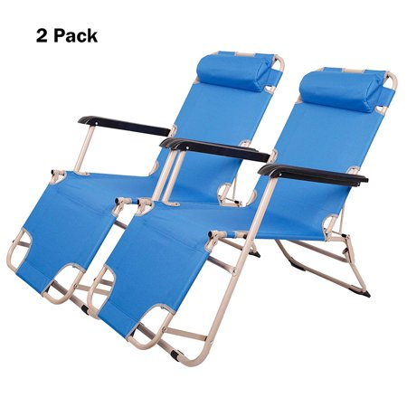 Astounding Karmas Product 2 Pack Flat Floding Patio Lounge Chair Outdoor Camping Reclining Chairs For Beach Lawn 60 L X19 W Creativecarmelina Interior Chair Design Creativecarmelinacom