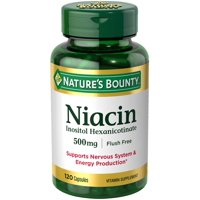 Nature's Bounty--Niacin--Flush-Free Formula Niacin--Supports Nervous System & Energy Production*--500mg Capsules, 120 Count