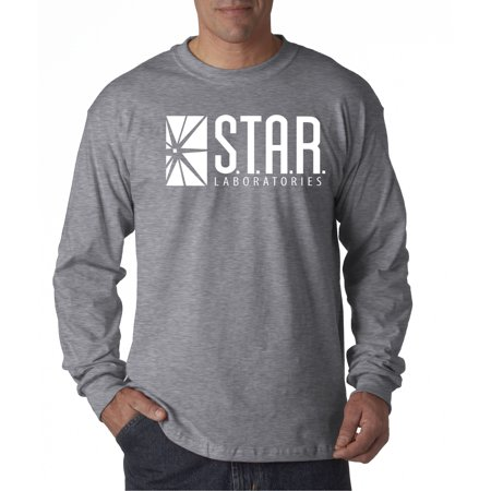 New Way 859 - Unisex Long-Sleeve T-Shirt Star Laboratories Labs Comic Hero Medium Heather Grey