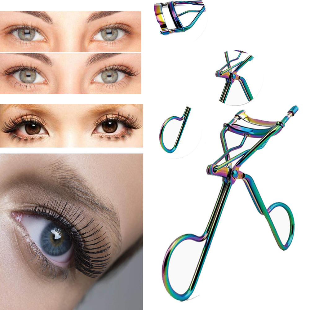 Outtop Proffessional Handle Eye Curling Eyelash Curler Clip Beauty Makeup Tool New