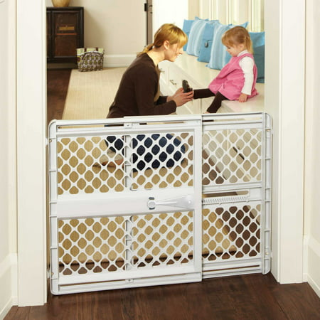Toddleroo by North States Supergate Classic Gray Baby Gate, 26''-42'' Easy to Use