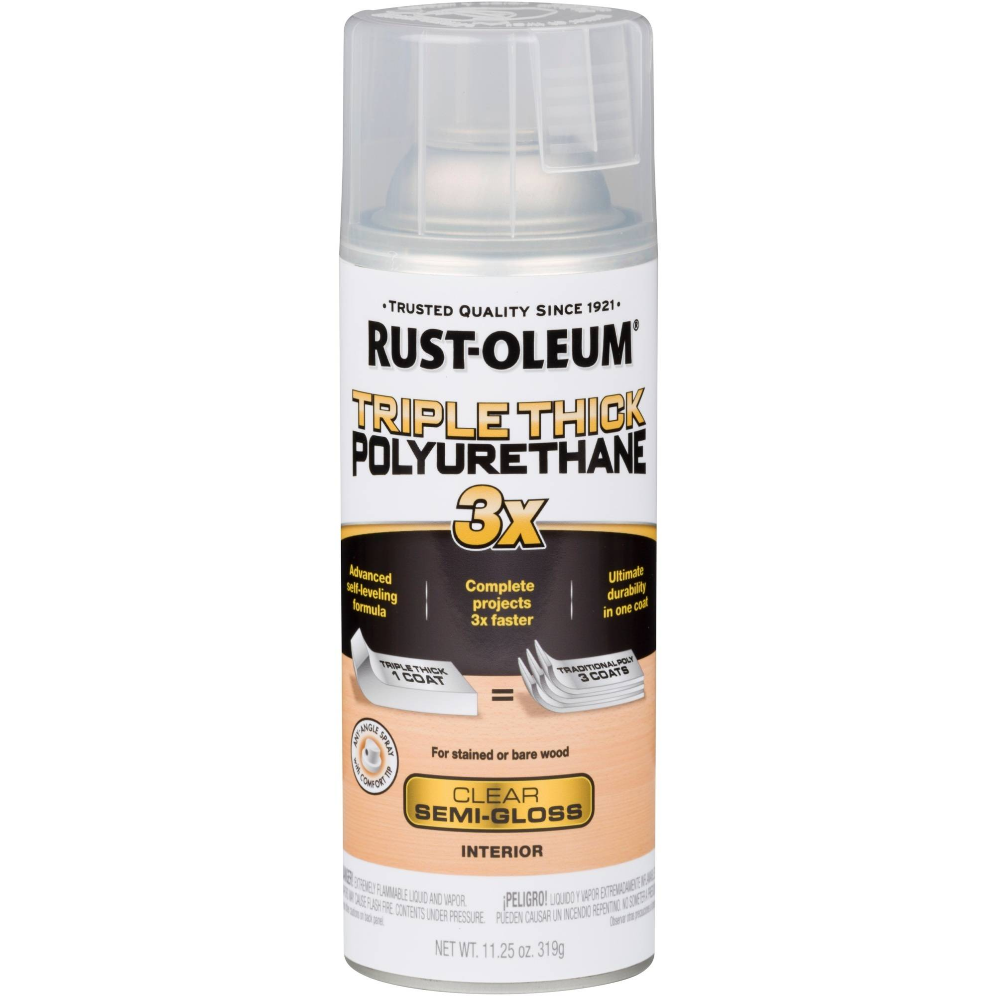 (3 Pack) Rust-Oleum Triple Thick Polyurethane Spray
