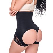 Women's High Waist Butt Lifter Shapewear Hollow Out Lifter Panty Ultra Firm Control Tummy Slimming Body Shaper