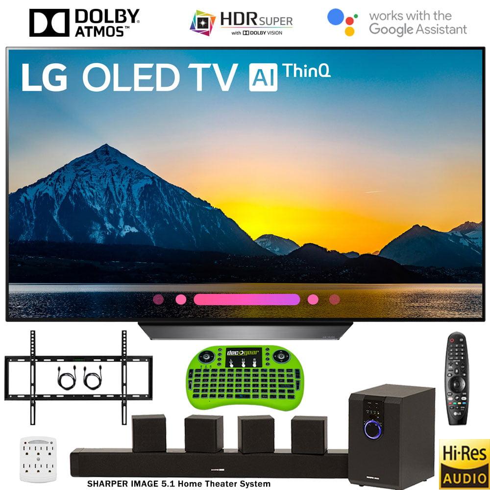 """LG OLED55B8PUA 55"""" Class B8 OLED 4K HDR AI Smart TV (2018 Model) Deluxe Bundle"""